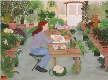 The Orchid Painter