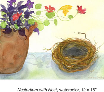 Nasturtium with Nest