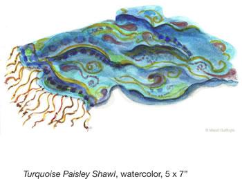 Turquoise Paisley Shawl