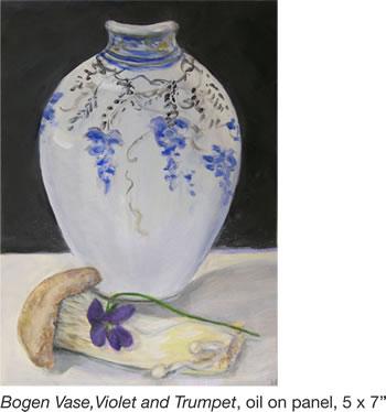 Bogen Vase, Violet and Trumpet