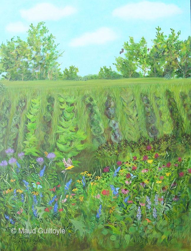 """Meadow V, acrylic on canvas, 40 x 30"""""""