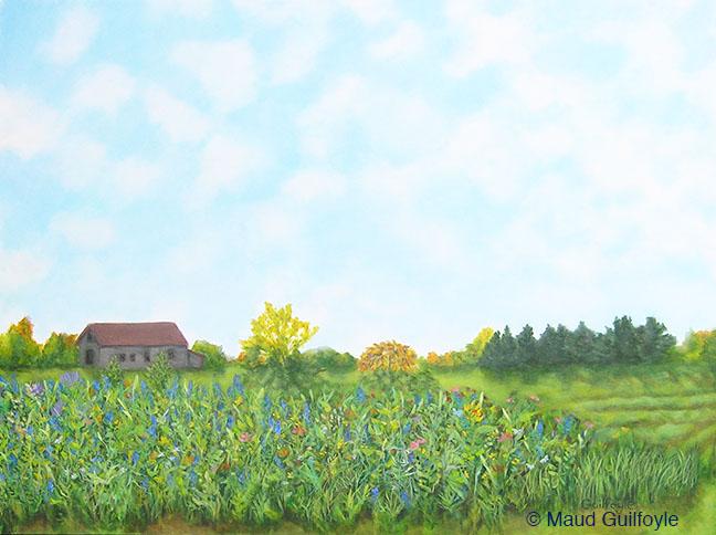 """Meadow IV, acrylic on canvas, 30 x 40"""""""