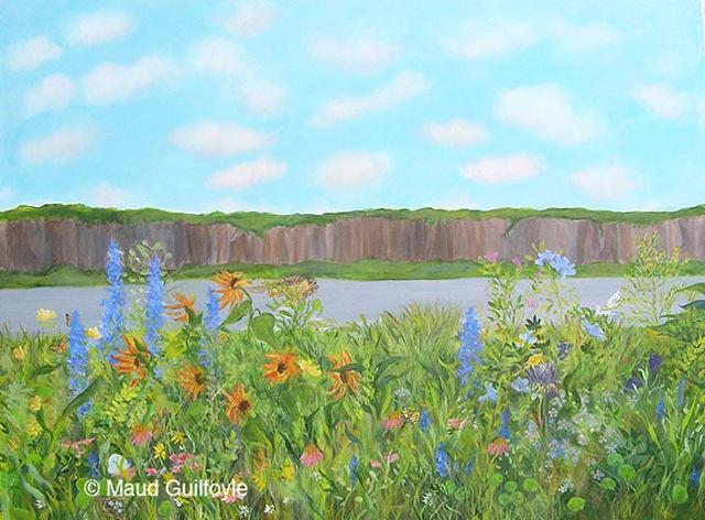 """Meadow VI, acrylic on canvas, 30 x 40"""""""